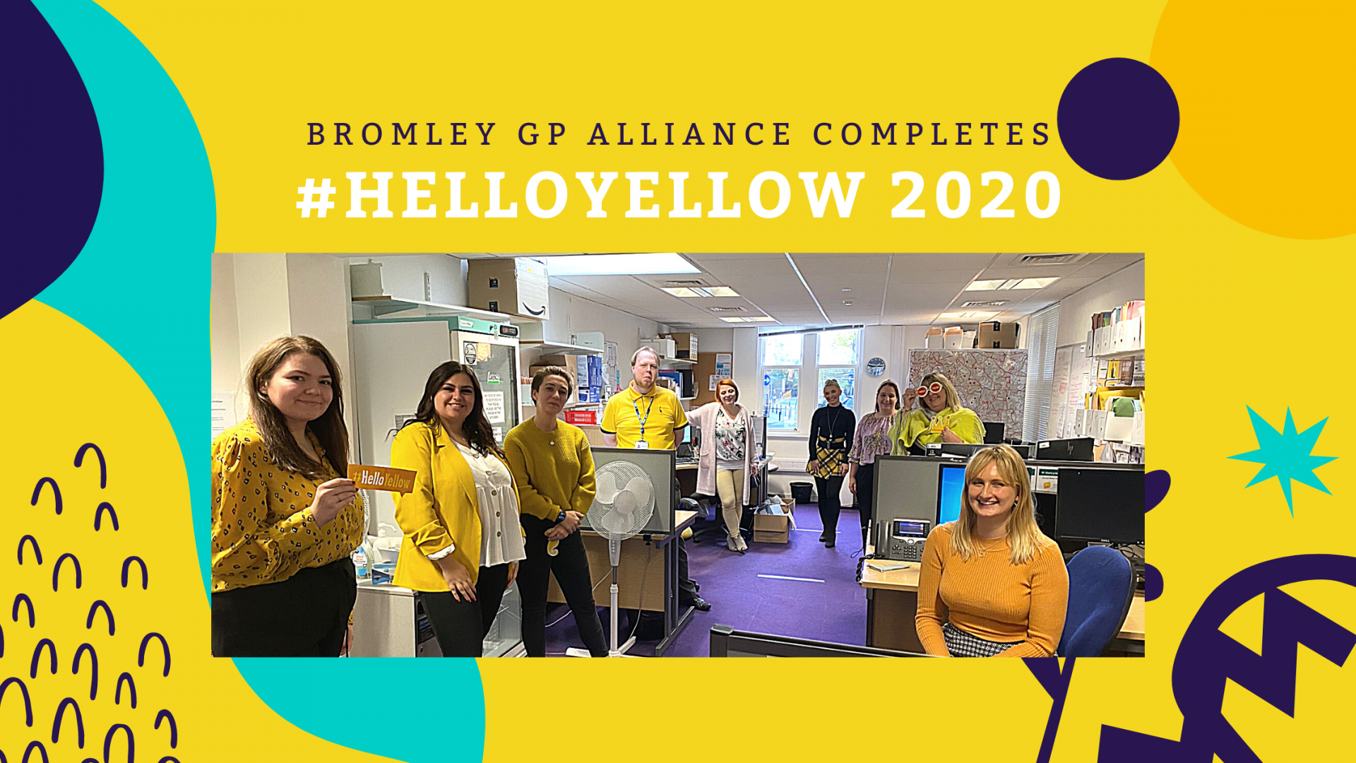 This is an image of the BGPA staff wearing yellow